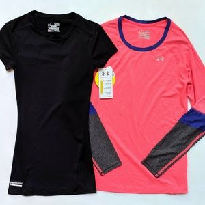 Under Armour Women's Athletic Tee Top Shirt Lot XS